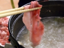 グルメに大好評の「知床赤豚」しゃぶしゃぶ鍋