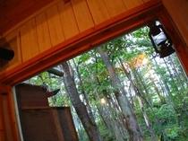 A棟 リビング窓からの眺め