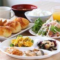 無料朝食(メニューは日替わりです)
