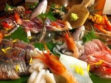 天然鯛、うに、ふくらぎ、さざえ、タコ、マルアジ