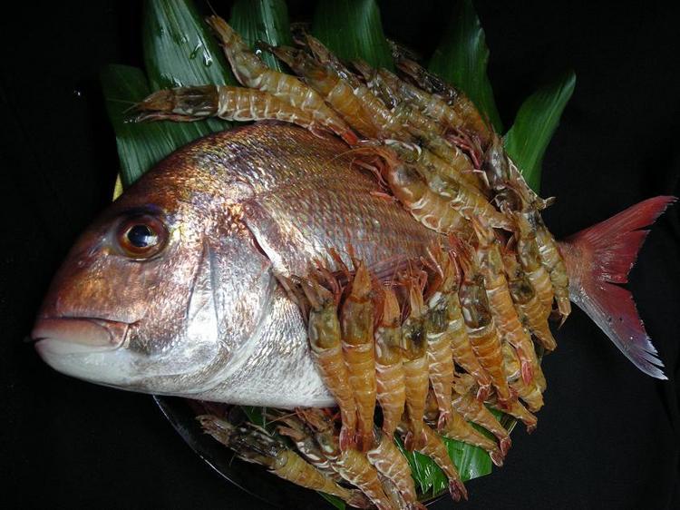 ガサ海老・桜鯛ミックスコース