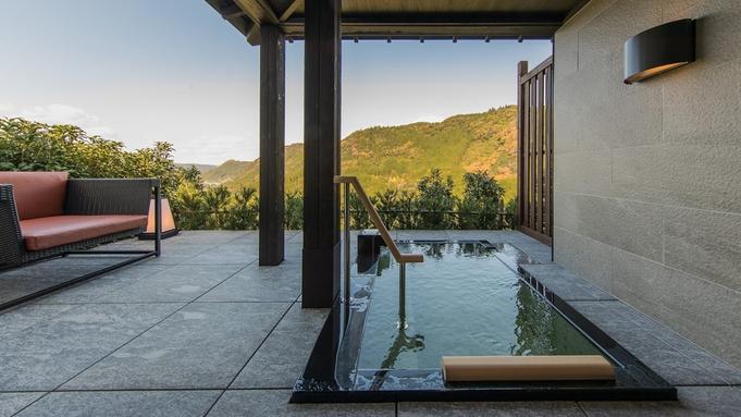 【一棟貸切・離れ竜峡】響渓谷に囲まれた絶景を望む露天風呂付離れで極上のひととき「うめひびき会席」