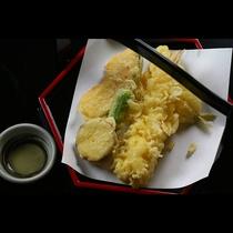 天ぷら えび、きす、氷見野菜 ししとう さつまいも かぼちゃ