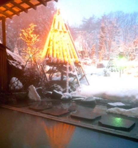 庭園露天風呂【冬】
