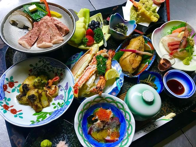 花渕荘の最上牛限定特別料理。