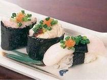 白子寿司三種盛り