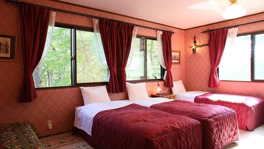 【3〜4ベッドルーム】3~4名◆禁煙 /客室ロジーナ