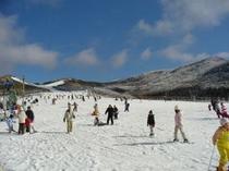 日曜日のスキー場