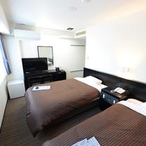 2Fリニューアル客室:ツイン/シンプルでありながら通常客室とは一線を画した設備にてご提供