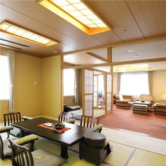 【禁煙・特別室】(和室8畳+ツイン+リビングルーム)