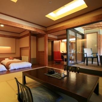 【禁煙・高層階】展望風呂付客室B(10畳+ツイン+リビング)