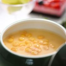 【2017夏・山荘】冷製とうもろこしの茶碗蒸し