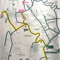 *【周辺地図】冬のみ、当館より徒歩10分の駐車場をご利用ください。