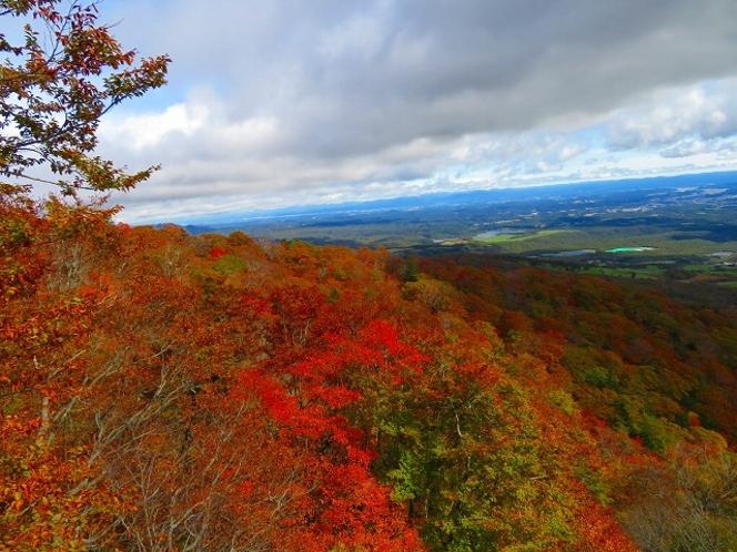 ロープウェイからの那須山紅葉(秋)