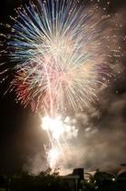 真岡の夏祭り。毎年7月には本社神輿の連合渡御等と同時に花火大会が開催。