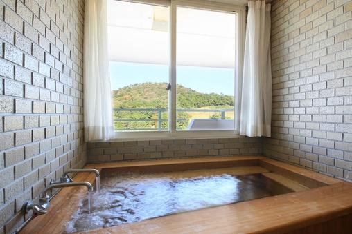 【セミスイート】檜風呂の温泉付 和洋室