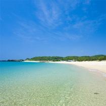 ■錦浜■壱岐の海は透明度が高く、美しいビーチがたくさんあります♪
