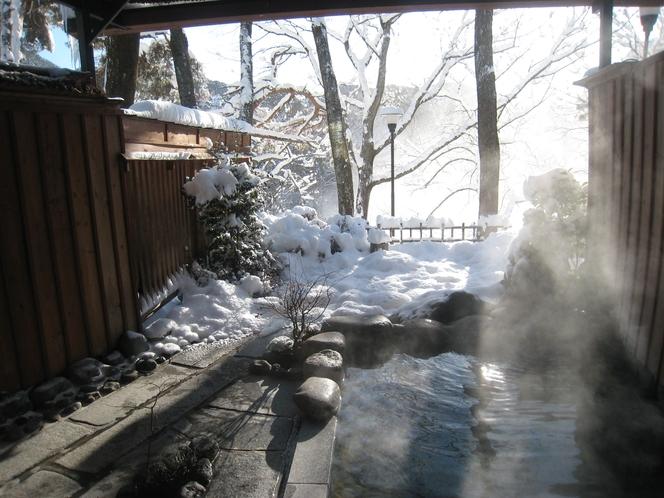 露天 雪景色