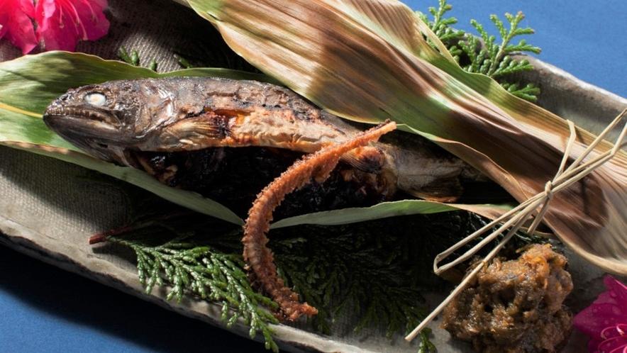 ◆【岩魚のくるみ味噌焼き】 くるみの触感と味噌の深みのあるコクと香り上品な甘さが食欲をそそります!