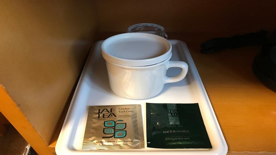 客室アメニティーセット~紅茶・煎茶をご用意しております