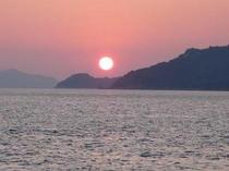 北木島の夕日