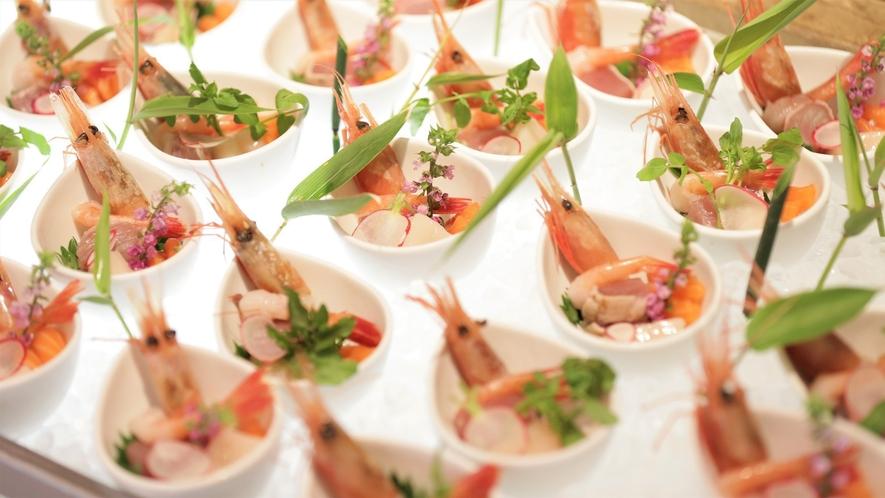 【ビュッフェ】オホーツクの雰囲気とともに新鮮・美味なお料理をお愉しみください(イメージ)