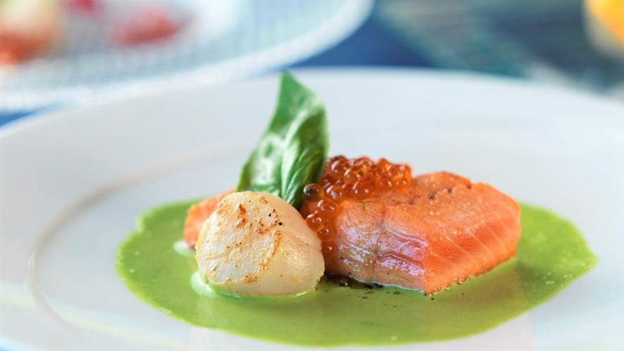 【創作ディナー】新鮮な魚介類など、旬の美味しさにこだわっています!(イメージ)