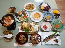夕食のイメージ 一例 (鍋料理は オプションです)