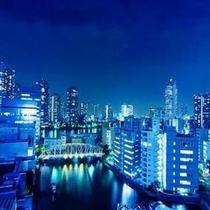 亀島川夜景一例