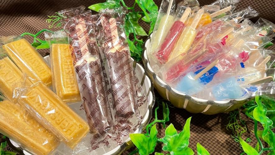 ◆湯めぐりフェア 湯上りアイス ー提供時間:15:00~25:00 2階大浴場前