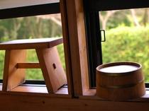☆檜の香るお風呂 椅子も桶も木製です