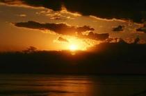 グリーン・バーからの夕陽