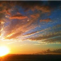 グリーンバーからの夕陽