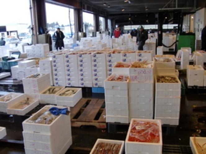 魚市場の仕入れ風景