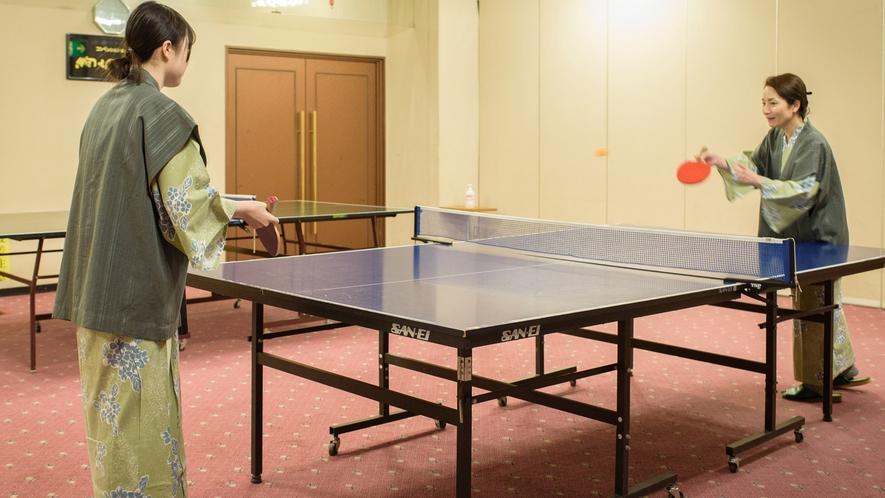 ◆卓球コーナー 温泉に来たらやっぱりこれ! 営業時間:10:00~24:00