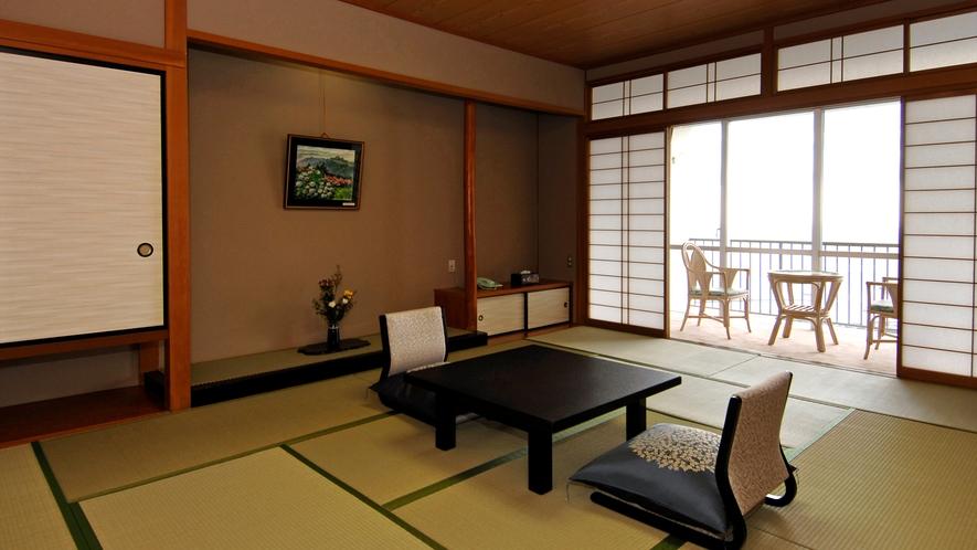 ◆【和室12畳 禁煙】海が見えるお部屋。バス・洗浄機付きトイレ付。