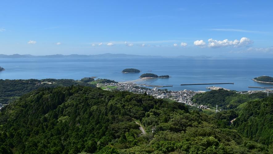 ◆【眺望】山頂から望む四季折々の山々と三河湾の眺望をお楽しみください。
