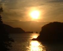 戸津井の夕日