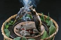 山女の炭火焼き