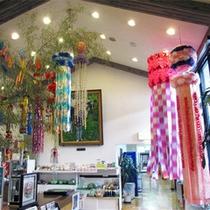 *【館内の飾りつけ/七夕】日本の風情を大切に。季節ごとの飾りつけを行っております。