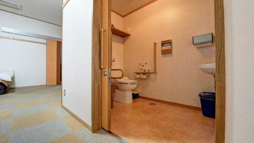 *【1Fバリアフリー和洋室・トイレ】バリアフリー対応のお部屋付きトイレ