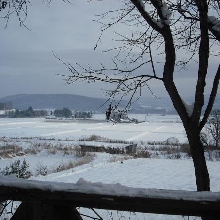 宿からの冬景色