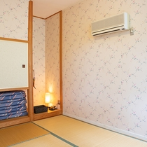 *【メゾネット和室一例】2階建て構造の客室で、2階は寝室(和室)お布団はセルフでお願い致します