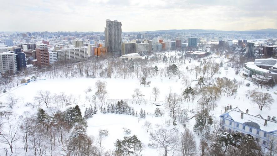 中島公園側眺望(パークビュー、冬)