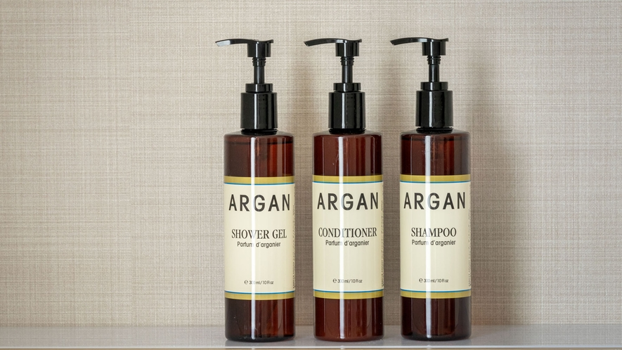 <新客室限定アメニティ>南フランス「ARGAN」のバスアメニティは、しっとり感が違います