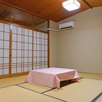【おまかせ和室(トイレ付き)】利用人数によってお部屋の広さが変わります。