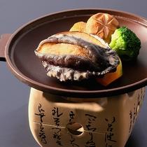 【アワビの陶板焼き】