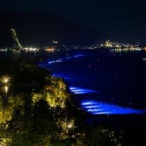 天橋立砂浜ライトアップ 全景