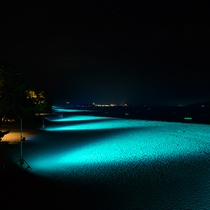 天橋立砂浜ライトアップ