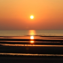 真玉海岸の夕陽